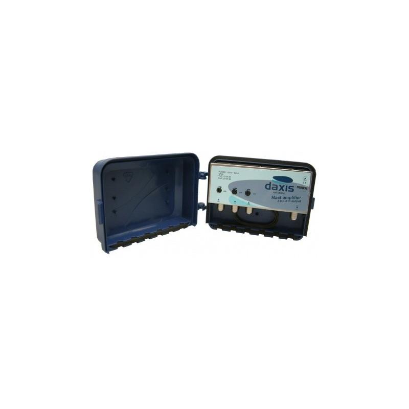 Amplificador de mastro 2UHF/40dB 1VHF/30dB