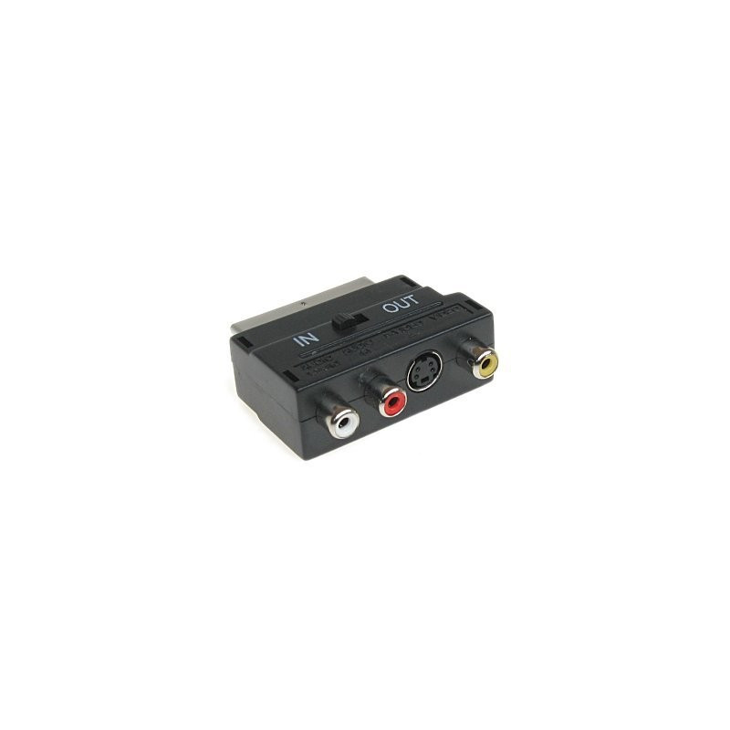 Adaptador SCART+RCA +S videeo-switch-IN-OUT