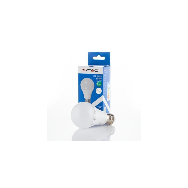 Lâmpada LED V-TAC 10W E27 A60 Allround 200º Branca Fria 806Lm-REF-L4227