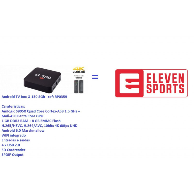 Android TV box G-150 8Gb - ref: RP0359